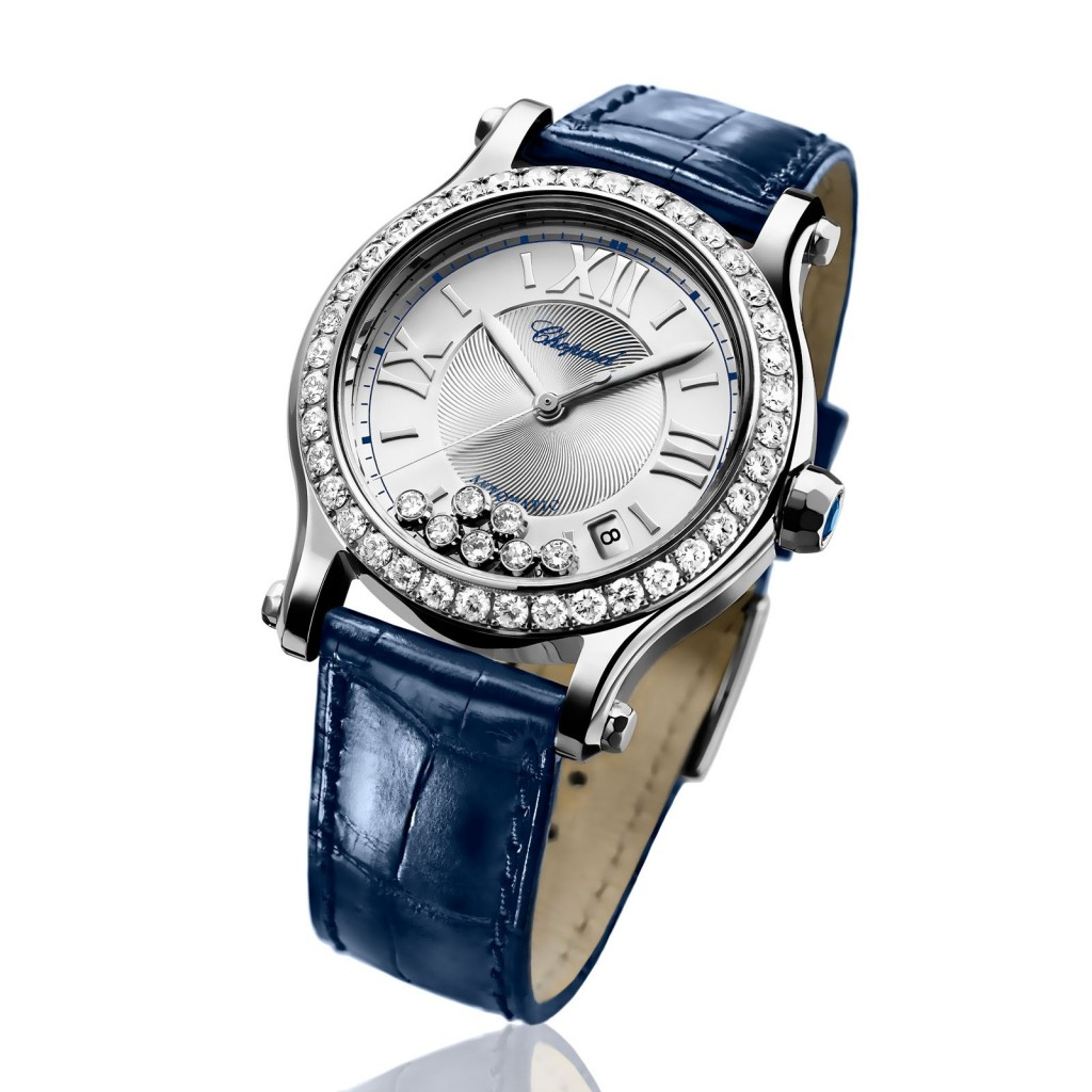 Replica Chopard Happy Sport 7 Diamonds Bezel Watch