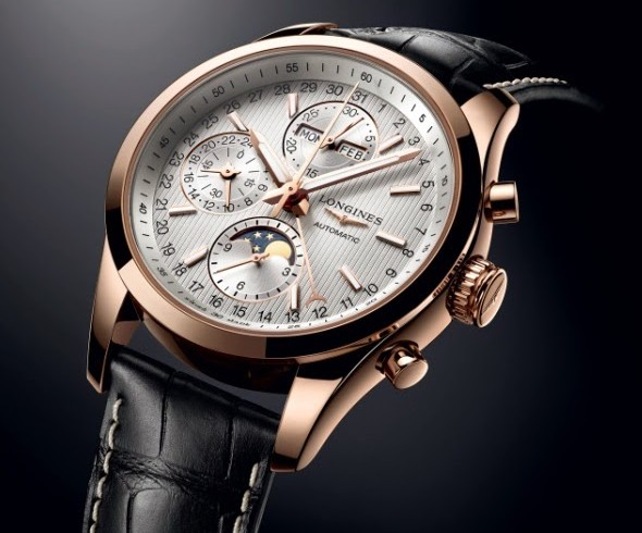 Best quality longines conquest classic moonphase chronograph replica watch