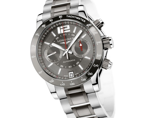 Grey ceramic bezel longines sport admiral chronograph replica watch